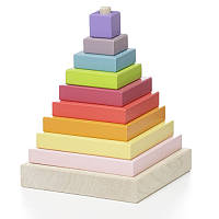 Деревянная игрушка Cubika Пірамідка LD-5