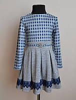 Нарядное детское платье для девочек ангорка с кружевом