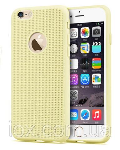 Силиконовый бежевый чехол для iphone 6