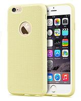 Силиконовый бежевый чехол для iphone 6, фото 1