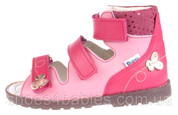 Дитячі профілактичні босоніжки р. 19-36 MRUGALA для дівчаток рожеві 1210-40