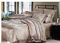 Двуспальный евро комплект постельного белья Сатин-жакардTM Bella Villa J-0006 Eu