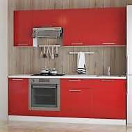 Кухня Даринка червоний глянець (МДФ)- 2,2 м.