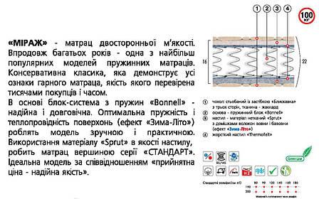 ✅ Ортопедический матрас  Мираж 80x190 см. Велам, фото 2