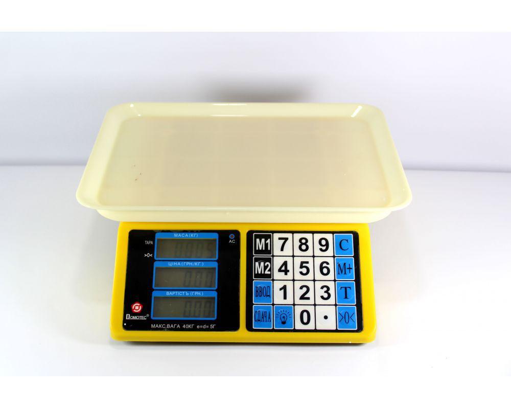 Весы торговые ACS 40kg/5g  MS-266 Domotec 4V