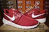Кроссовки Nike Roshe Run Burgundy Бордовые женские, фото 5