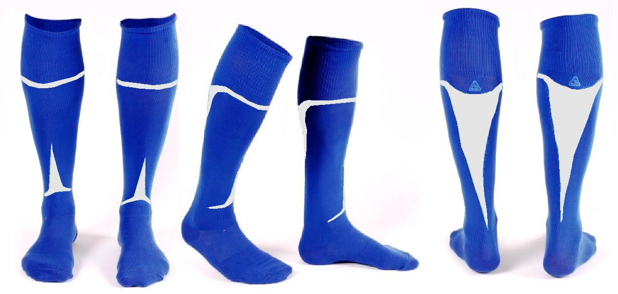 Гетры Liga Sport сине-белые