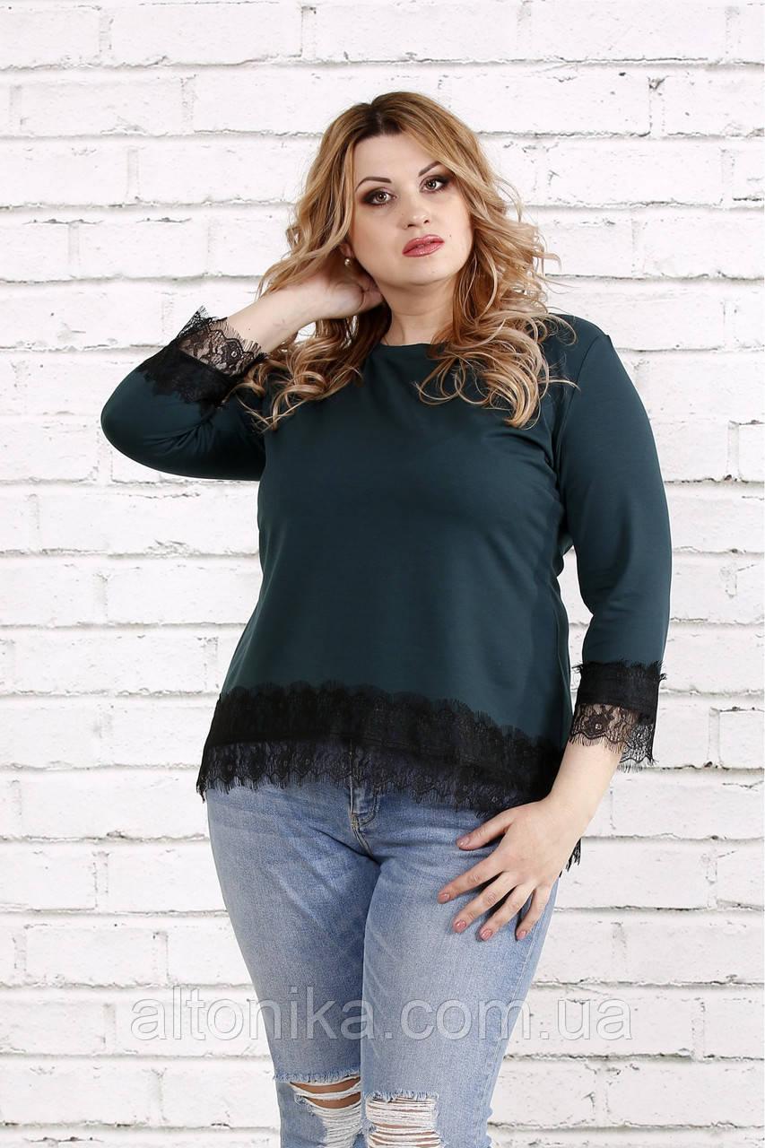 Женская блузка с кружевом   0753-3