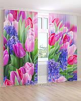Фотошторы алые тюльпаны