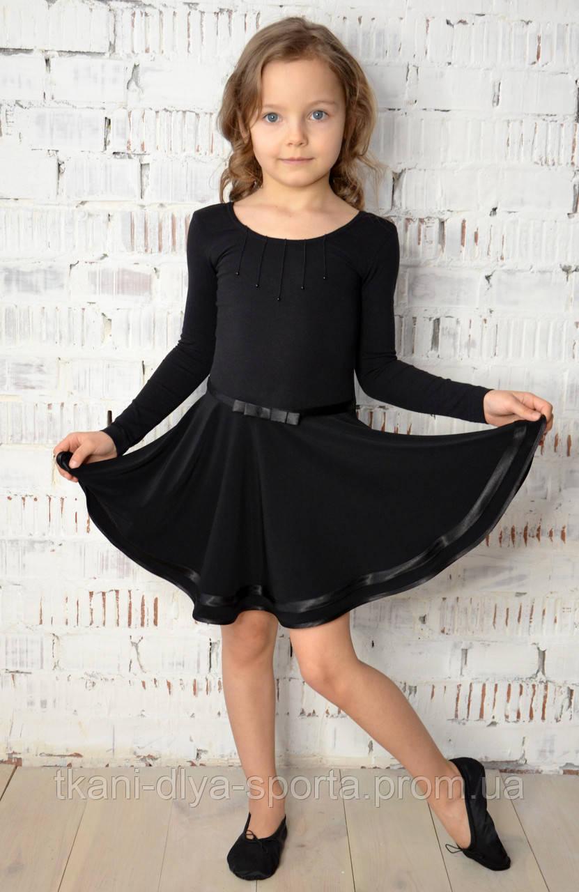 Купальник с юбкой для танцев черный