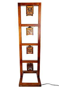 Торшер рамка (квадро) 2104-4 деревянный
