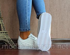 Кроссовки женские белые Nike Cortez нат. кожа реплика, фото 3