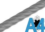 Трос нержавеющий А4 DIN 3055 3 мм (бухта 200 м; 250 м)