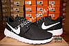 Кроссовки Nike Roshe Run Black White Черные женские, фото 2