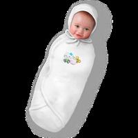 """Пеленка кокон для новорожденных БЕЛАЯ НА ЛИПУЧКАХ """"Deep Sleep Flanel 3"""" Premium   (Скидка на доставку Новой по, фото 1"""