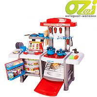 Детская кухня с холодильником и духовкой Cook Set (красная)