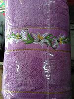 Полотенце лилия вышивка 70*140см