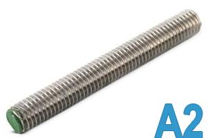 Шпилька резьбовая нержавеющая, резьбовой стержень М12 х 1000 DIN 975/976
