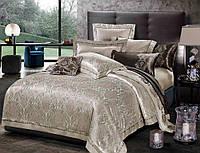 Двуспальный евро комплект постельного белья Сатин-жакардTM Bella Villa J-0014 Eu