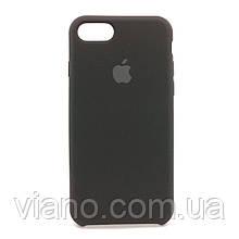 Силиконовый чехол iPhone 7/8 (Чёрный). Apple silicone case