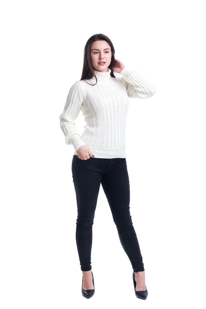 Женский свитер с рукавами