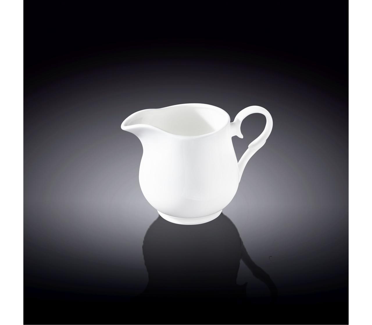 Молочник столовый Wilmax фарфоровый с ручкой 300 мл