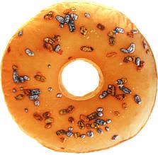 Декоративна 3D подушка Пончик апельсиновий з родзинками