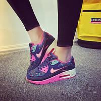Кроссовки Nike Air Max 90 Blue Pink Розовые женские