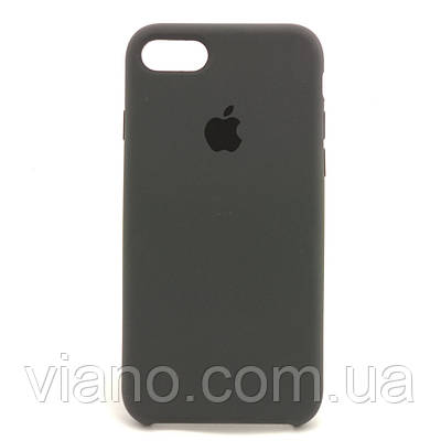 Силиконовый чехол iPhone 7/8 (Тёмно-Серый) Apple silicone case