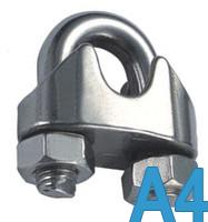 Зажим для стальных канатов DIN 741 4 мм (М4) нержавеющий, А4