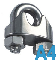 Зажим для стальных канатов DIN 741 5 мм (М5) нержавеющий, А4