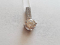 Серебряная подвеска с фианитами. Артикул 340106, фото 1