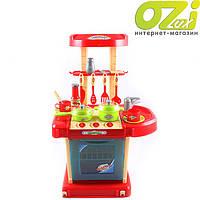Детская кухня Kitchen set в чемодане (красная)