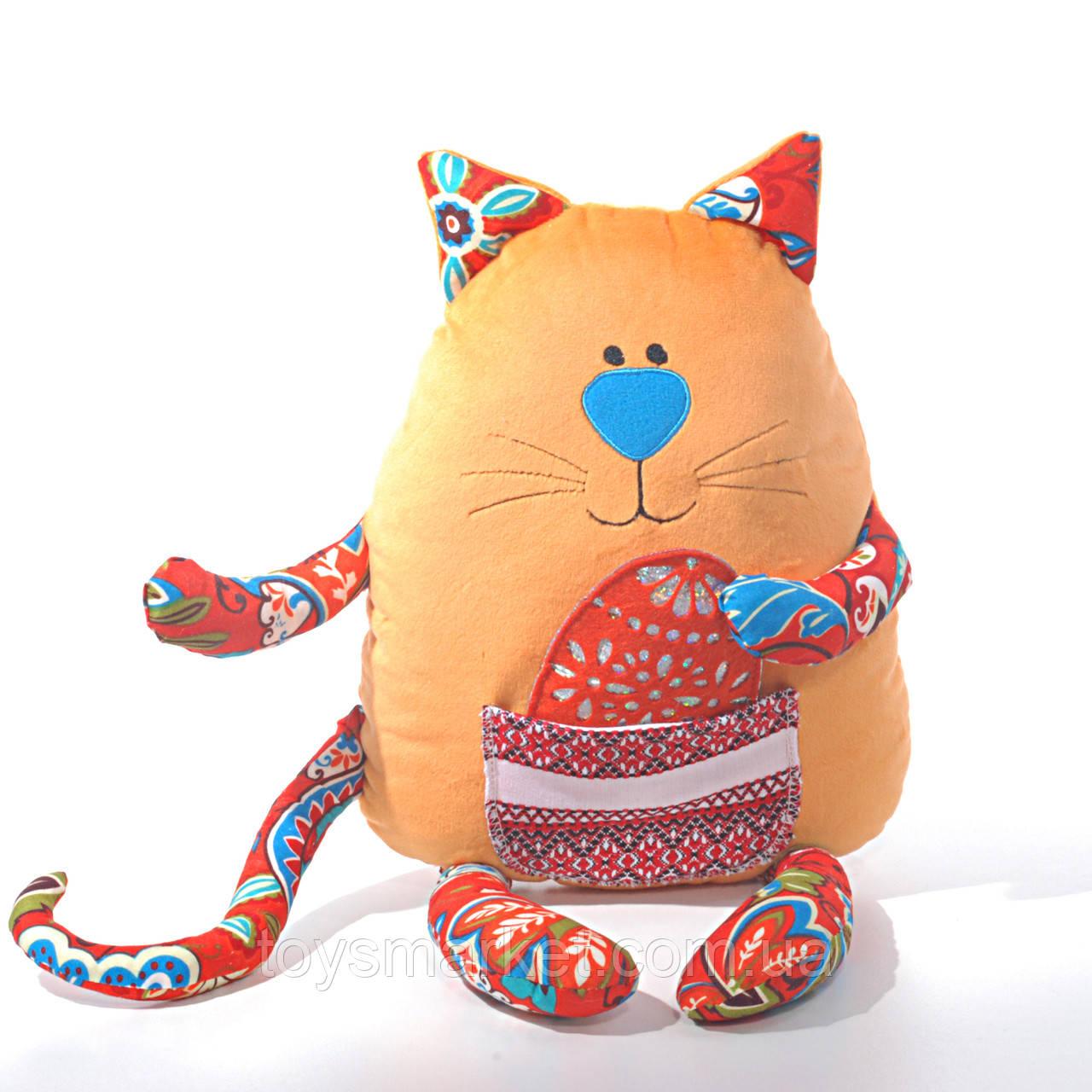 Детская мягкая игрушка, сувенир,Кот пасхальный (писанка)