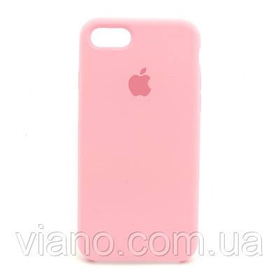 Силиконовый чехол iPhone 7/8 (Розовый). Apple silicone case