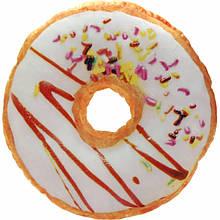 Декоративная 3D подушка Пончик ванильный с посыпкой