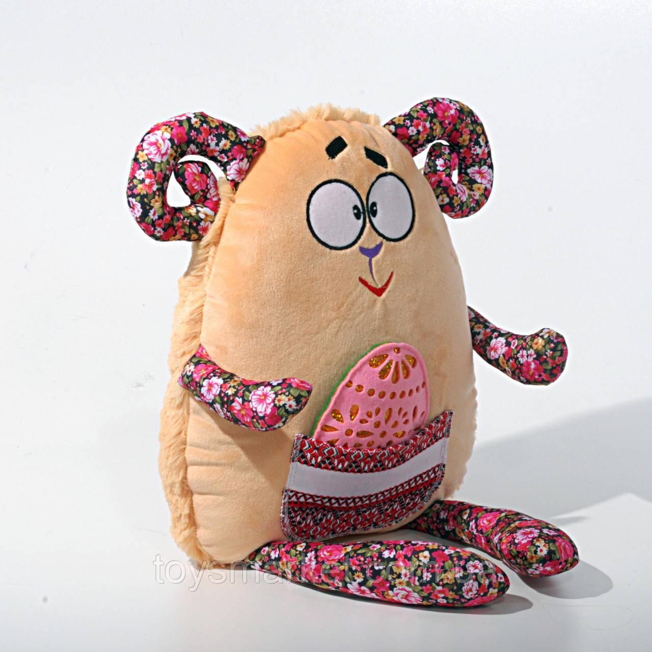 Детская мягкая игрушка, сувенир,Барашик пасхальный (писанка)