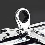 Профессиональный набор комбинированных трещеточных ключей с карданом 12 пр. Spectr N12, фото 5