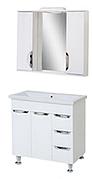Комплект мебели для ванной комнаты Альвеус Т-80-31К-З-80-04 с зеркалом ПИК