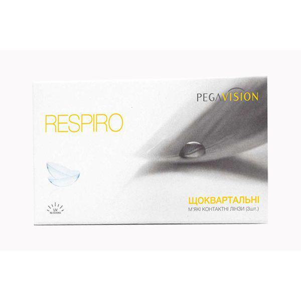 Контактные линзы Respiro на 3 месяца (квартальные), 6 шт,  Pegavision