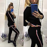 ЖІночий спортивний костюм з  полосами.Р-ри 42-48