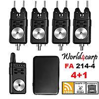 Набор сигнализаторов поклевки с пейджером 4+1 World4carp FA214-4
