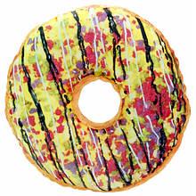 Декоративна 3D подушка Пончик райдужний