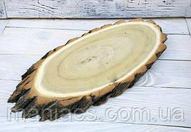 Деревянный спил для подачи роллов, суши