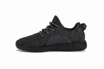 Кроссовки Adidas Yeezy Boost 350 Black Черные мужские реплика