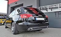 Диффузор заднего бампера тюнинг накладка Audi A6 C6 Avant стиль S-line