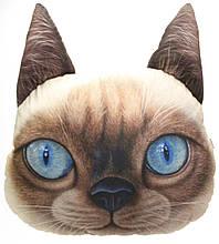 Декоративна 3D подушка Тайський кіт
