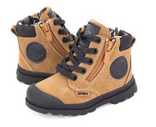 Обувь для мальчиков, детские ботики коричневые, Jong Golf