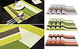 Сервировочные коврики (салфетки) под тарелки (комплект из 4-х шт.), салатовый, фото 2