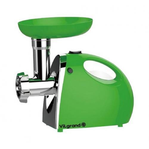 Мясорубка электрическая 2000 Вт ViLgrand  V206-НMG_green + насадка для сока